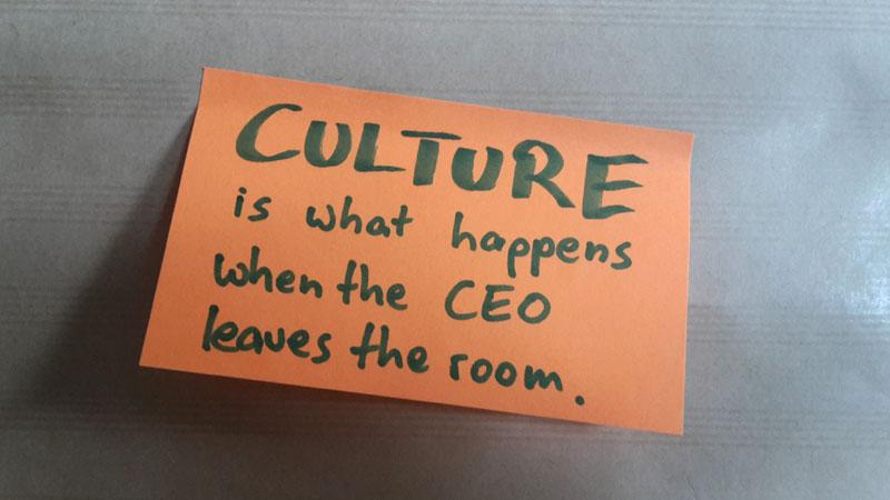 Unternehmenskultur ist, wenn ....