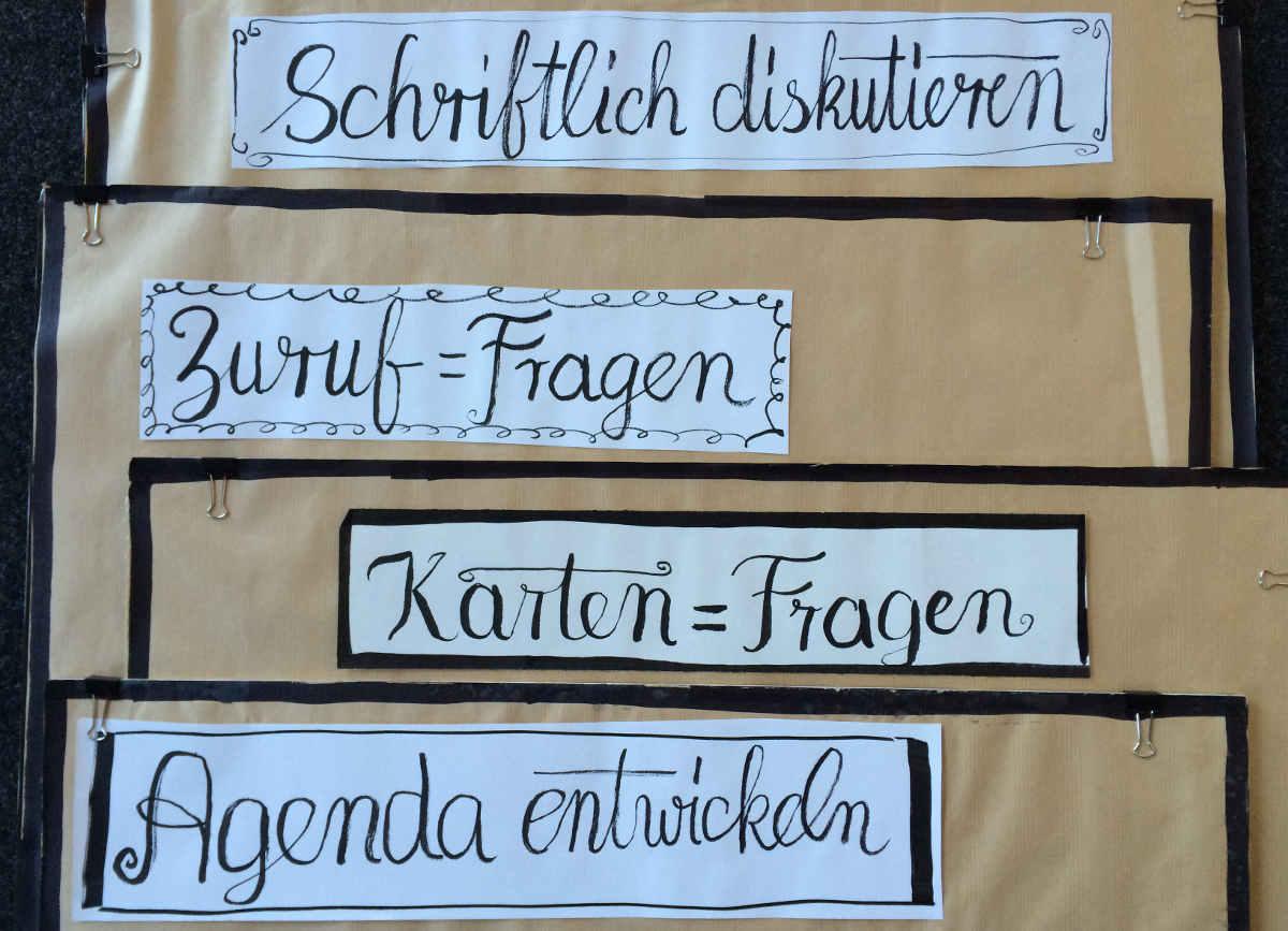 Brushlettering Posterüberschriften