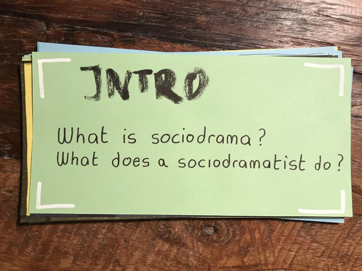 Sociodrama Sociodramatist